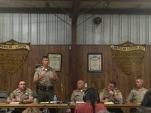 Sheriff presentation, picture by Joy Hostler